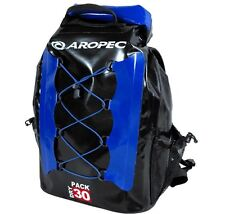 Aropec Coastline Dry Backpack Waterproof Rucksack Black/Blue, 30 Litre Capacity