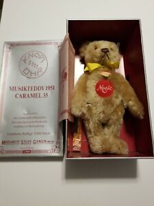 1993 LIMITED EDITION Steiff Caramel 1951 Musical Music Teddy Bear 275/7000
