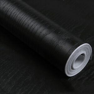3m-Black-Wood-Grain-Wallpaper-Self-Adhesive-Furniture-Wall-Stickers-Vinyl-Wrap