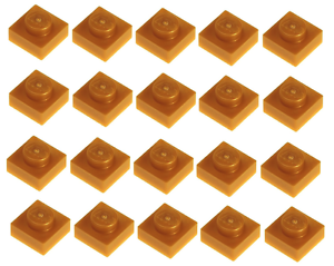 Lego Pearl Gold Plate 1x1 20 pieces NEW!!!
