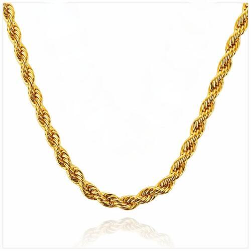 69 € Damen Herren K1812S Kordelkette 5 mm 750er Gold 18 Karat vergoldet UVP
