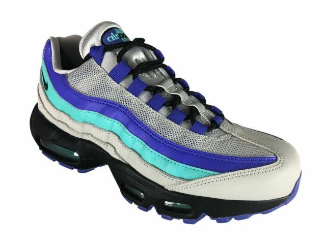 NIKE Air Max 95 OG Men's Running Shoes AT2865 001 Grey Black Indigo sz 8 13