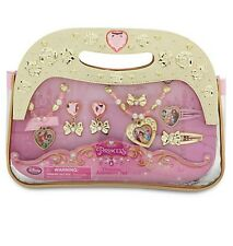 Disney Store Authentic 8pc Princess Jewelry Set Necklace Ring Bracelet Earrings