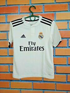 Real-Madrid-Jersey-2018-2019-Home-Kids-Boys-9-10-y-Shirt-Football-Adidas-CG0554