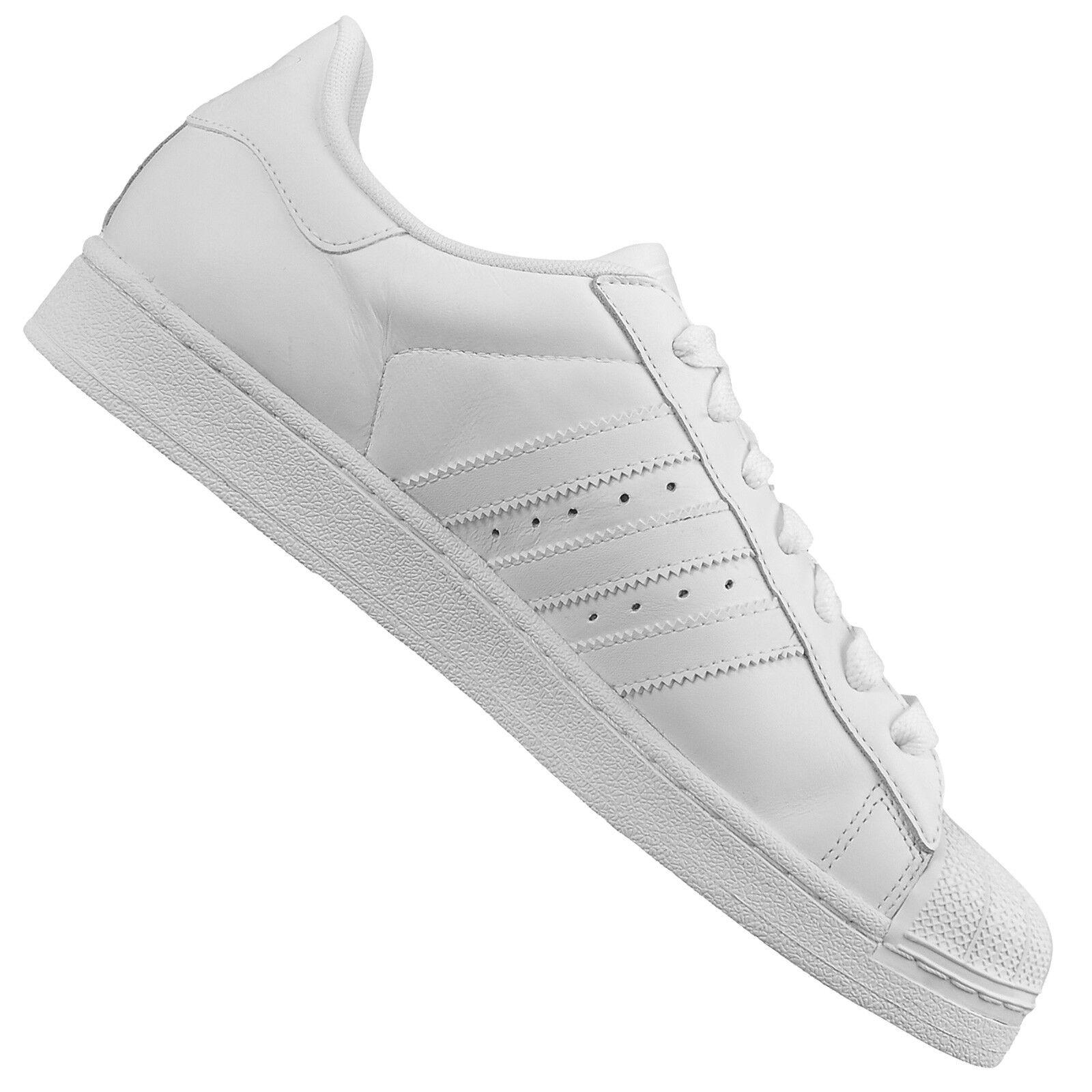 Adidas Originals Superstar II G17071 Scarpe di Cuoio Tutto Bianco Pulire 47 1/3 Scarpe classiche da uomo