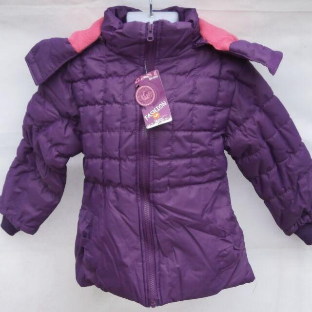 Doudoune fille violet 4 ans doublée polaire avec capuche