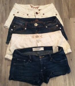 Zd And Almost Famous 2s,3s High Resilience Lot Of 4 Coolest Short Shorts Abercrombie Hollister