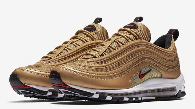 WMNS Nike Air Max 97 OG QS Metallic Gold Bullet Classic Women Running 885691 700 UK 6