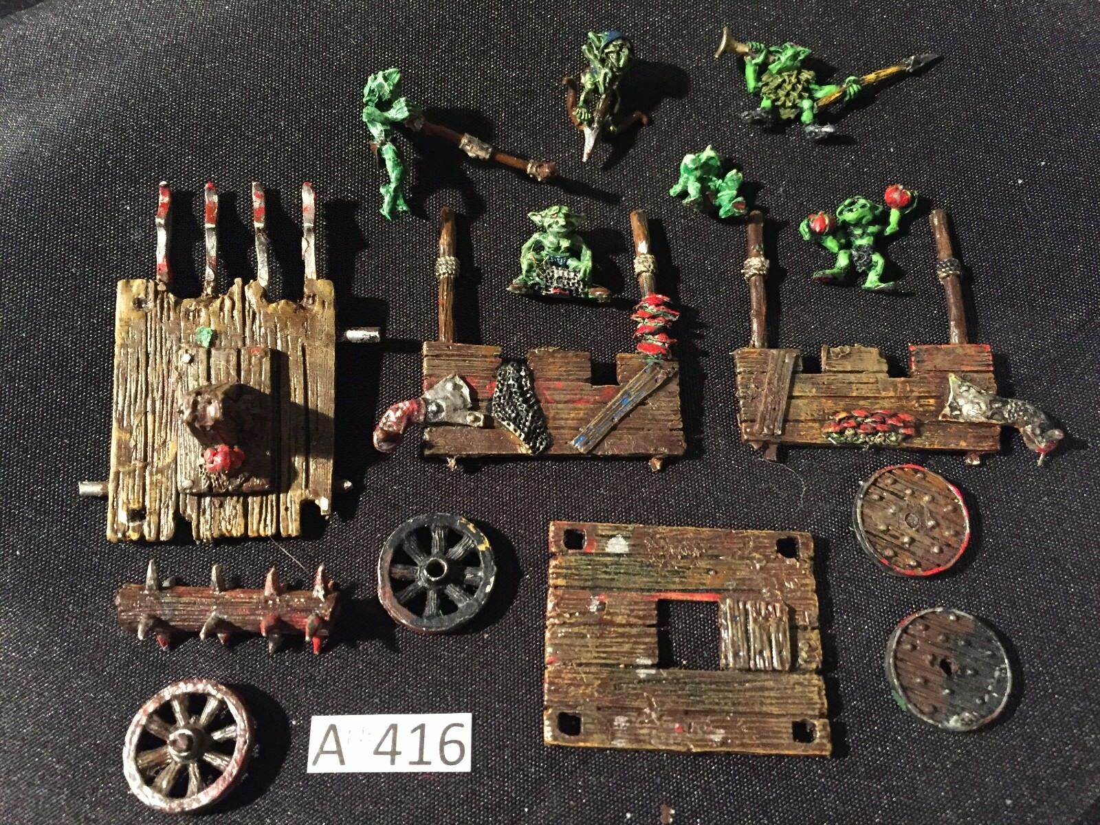 Games workshop warhammer snotling pumpe wagen metall orks und goblins fantasie