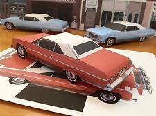 Papercraft E Z U-build 1975 Chevrolet Caprice top-up convert Paper Toy Model Car