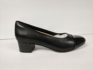clearance prices new style & luxury sale retailer Details about Clarks Chartli Diva Pump, Black Leather/Synthetic Combo,  Womens 6.5 M
