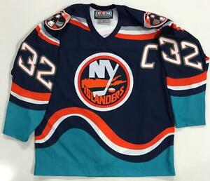 Trevor Linden New York Islanders 1997 Original Ccm Wave Authentic