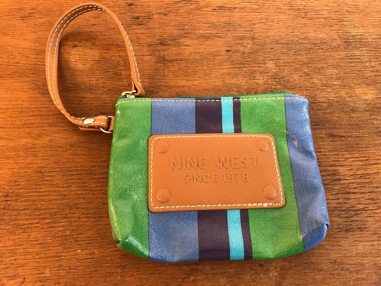 NINE WEST Colorful Wristlet Small Change Purse Wallet 6