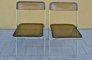 Coppia di sedie metallo plastica anni richiudibili ebay