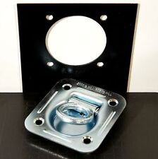 4 Recessed Floor D Rings w Backing Plate Enclosed Trailer Cargo Trailer Tie Down