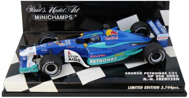 Minichamps Sauber Petronas C21 EE. UU. GP 2002-Heinz-Harald Frentzen 1 43 Escala