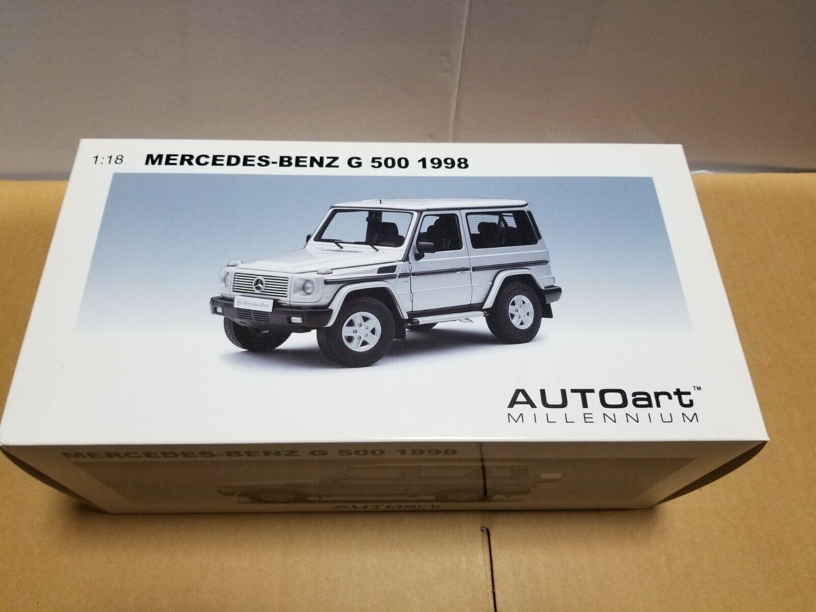 Autoart Mercedes Benz G 500 1998 76112 argento 1 18