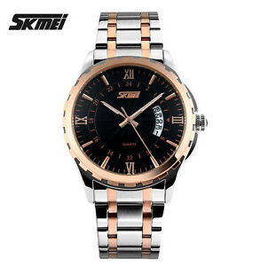 SKMEI-Reloj-Watch-acero-bicolor-analogico-dia
