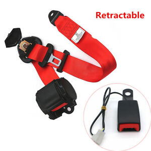 Universal Retractable Car Seat Belt Lap Diagonal Belt 3 Point Safety 3200mm long