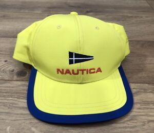 Nautica Vtg Collection Retro Yellow Sailing Cap Hat SnapBack Hip Hop ... 3e06f8c53d0