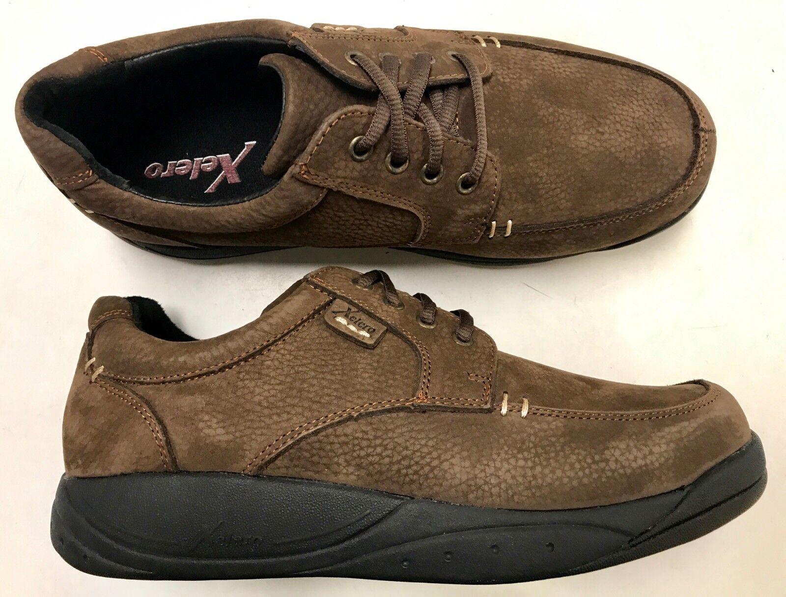XELERO  LONDON  Men's Orthopedic Extra Depth Slip Resistant Brown Leather shoes