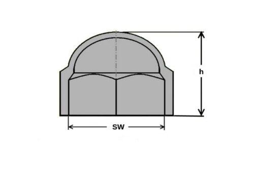 100 Stück Sechskant Schutzkappe M12 Abdeckka Farbe grau Schlüsselweite 19mm