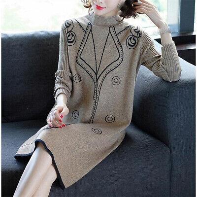 new Autumn winter Korean fashion elegant temperament knitting sweater dress