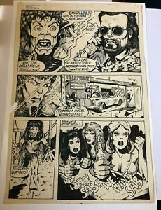 DALE-KEOWN-of-HULK-PITT-original-art-RARE-early-WORK-ROCKER-GROUPIES-GIRLS