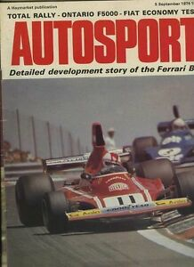 Autosport September 5th 1974 Ontario F5000 amp Ferrari 312 B3 - <span itemprop=availableAtOrFrom>Northamptonshire, United Kingdom</span> - Returns are accepted, please contact us immediately with any problems. Most purchases from business sellers are protected by the Consumer Contract Regulations 2013 which give you - Northamptonshire, United Kingdom