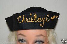 WOW Vintage CHRISTAYL Sewn Name Sailor Hat Amusement Park Souvenir Rare