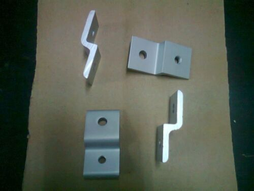 Aluminum T-slot 20x20 profile for panel-mesh mounting Single Retainer 4-pieces