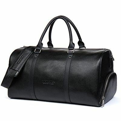 MANDAVA Genuine Leather Travel Duffle Weekender Overnighter Tote Gym Luggage Bag