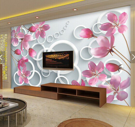 3D Flower Fantas 522 Wallpaper Murals Wall Print Wallpaper Mural AJ WALL AU Kyra