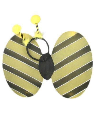 Ladies Girls Lady Bird Bumble Bee Tu Tu Skirt Wings Bopper Fancy Dress Costume