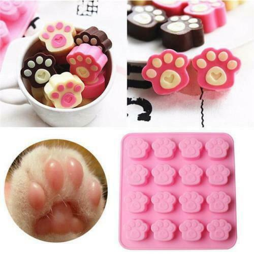Cake Bread Mold 16-Cavity Paw Stick Chocolate Mould Print Silicone Tool BL3