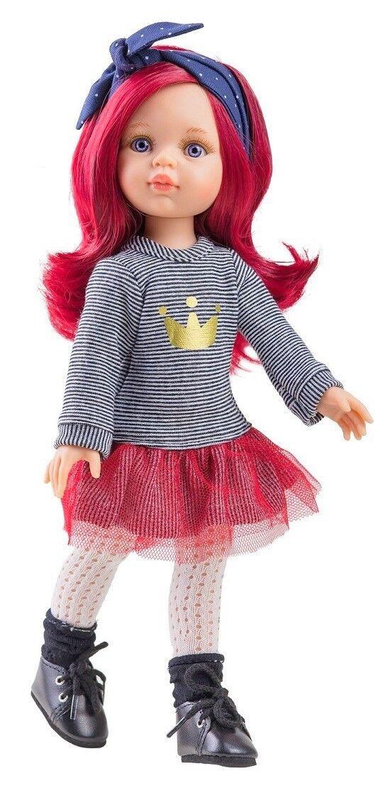 Künstler Puppe Spiel Puppe Dasha 32 cm Haare Rosa Paola Reina 4513...