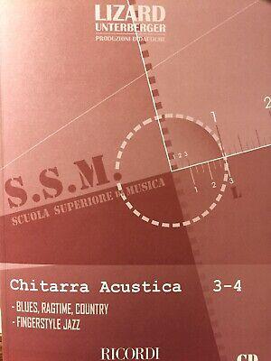 Chitarra Acustica 3-4 con CD Scuola Superiore Di Musica Lizard Unterberger