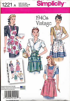 SIMPLICITY SEWING PATTERN 8762 MISSES 10-20 RETRO//VINTAGE 1950s FULL//HALF APRONS
