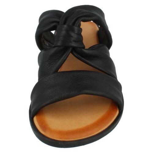 Dames F0R0197 Slip On Sandales en cuir Collection Prix De Vente £ 26.99