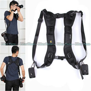 Quick-Rapid-Double-Dual-Shoulder-Sling-Belt-Strap-for-2-Two-DSLR-Digital-Cameras
