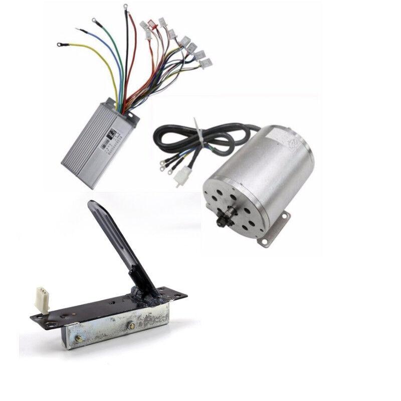 1800W 48V Brushless Electric Motor + Controller +Foot Pedal ATV Go Kart Chopper