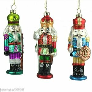 GISELA-GRAHAM-GLASS-NUTCRACKER-SOLDIER-GLITTER-CHRISTMAS-TREE-DECORATIONS-GIFT