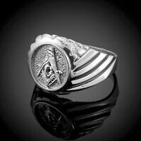 925 Sterling Silver Masonic Ring