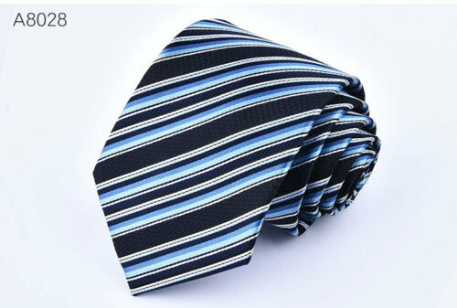 Fashion Men/'s Necktie Jacquard Woven Tie Silk New Narrow Wedding Skinny Slim
