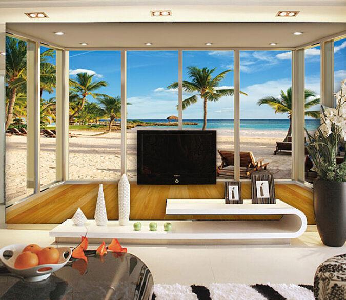 3D Weiße sandstrände, 908 Fototapeten Wandbild Fototapete BildTapete Familie