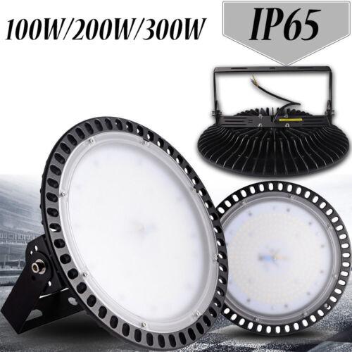 UFO LED Hallenleuchte 100W 200W 300W Hallenbeleuchtung Industrie Lampe Weiβ IP65