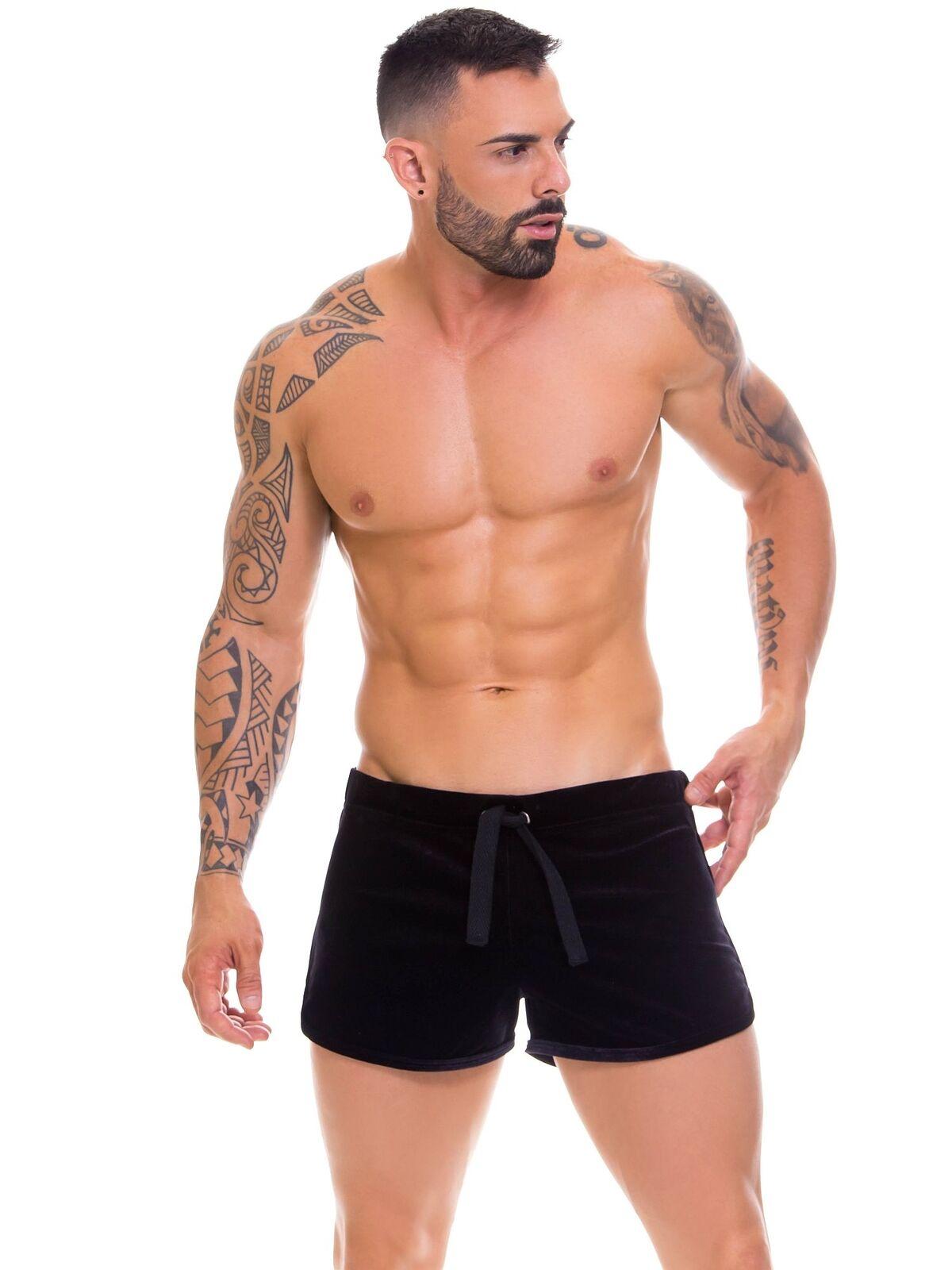JOR 0675 Shorts Pyjamahose Loungepant Schlafanzughose Samt