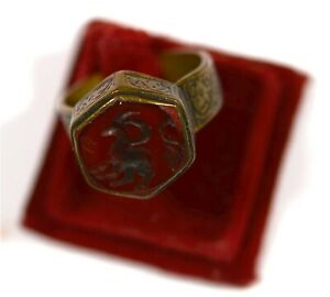 Nicely antique bronze ring