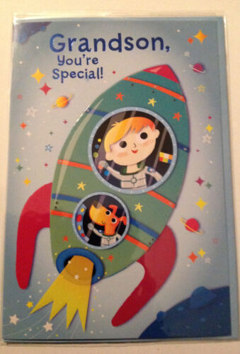Simon Elvin Grandson you/'re Special Happy Birthday Greeting card