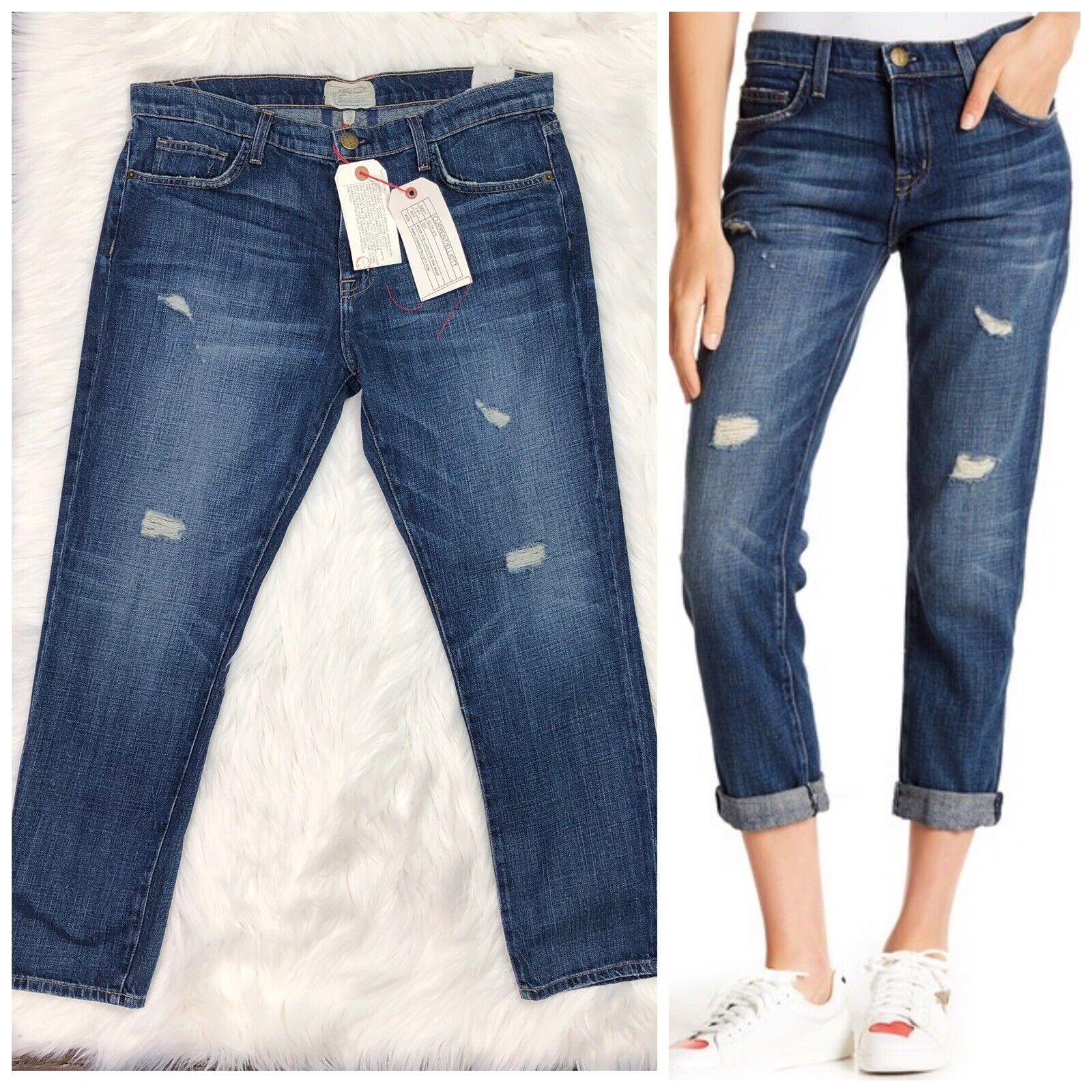 Current Elliott Jeans The Fling Distressed Boyfriend High Rise Woman New